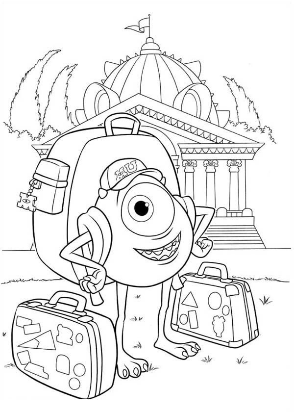 Monster Inc University Coloring Pages
