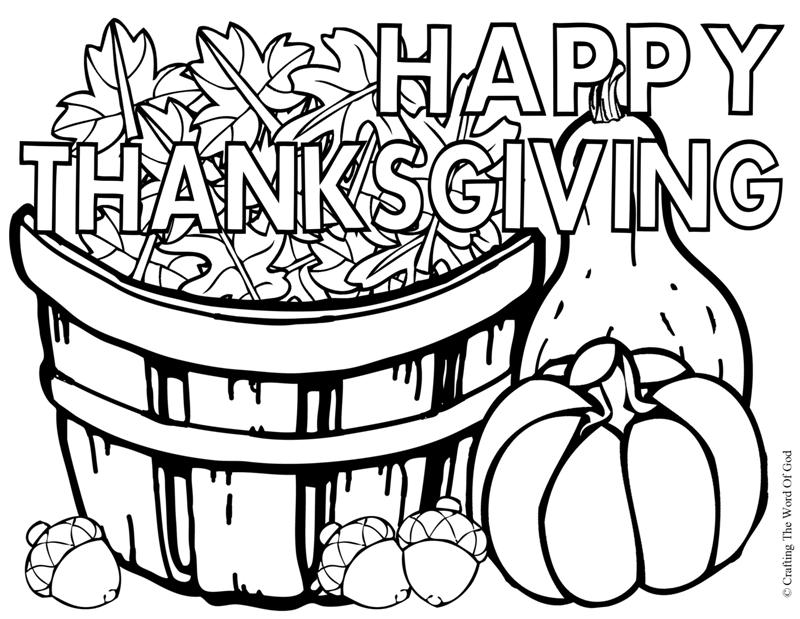 Thanksgiving For Adults - Coloring Pages for Kids and for Adults