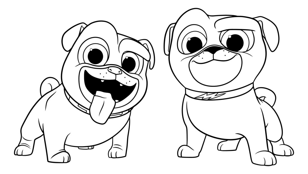 Dog And Cat Coloring Pages Popular Coloring Pages Of Dogs And Cats Puppy Dog  Pals To Download - birijus.com