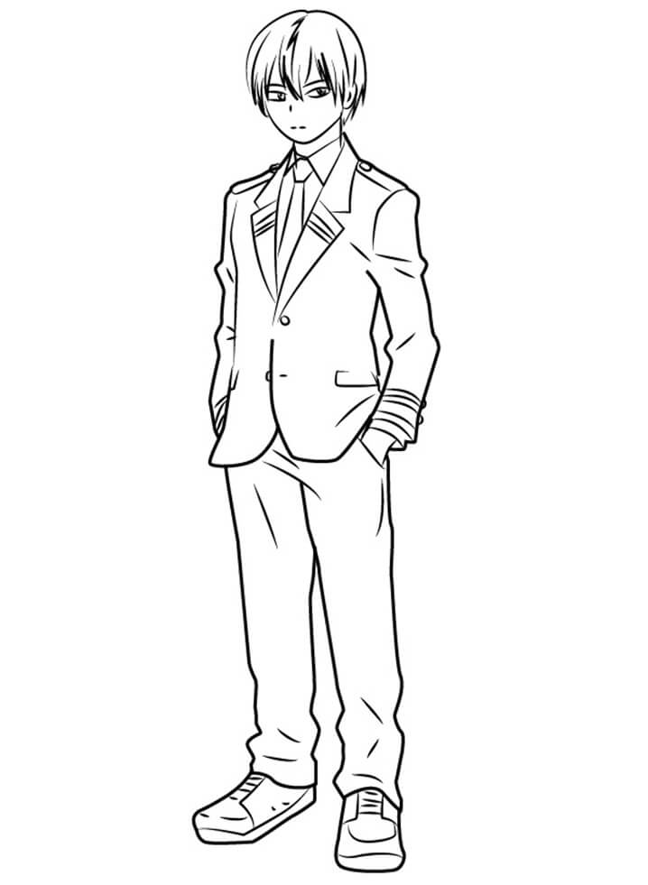 Todoroki From My Hero Academia Coloring Page Free Printable Coloring Pages For Kids Coloring Home