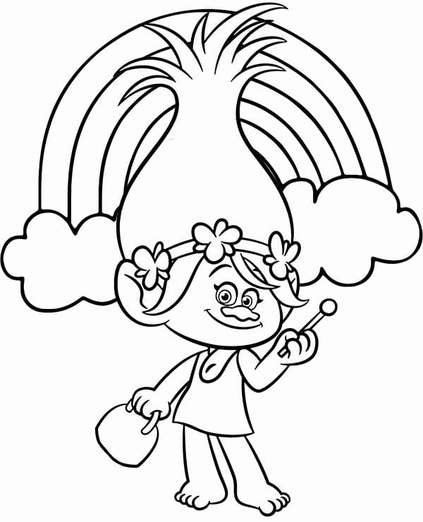 - Princess Poppy Coloring Pages - Coloring Home