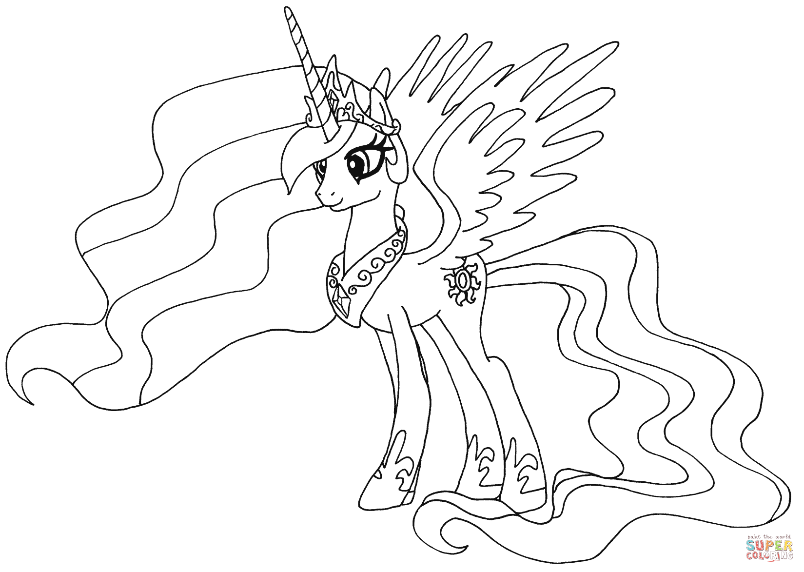 7 photos of the my little pony coloring pages princess celestia my little pony coloring pages princess celestia