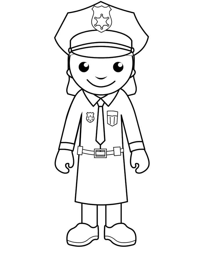 Female police officer coloring pages ~ POLICE MAN COLORING PAGE - Coloring Home
