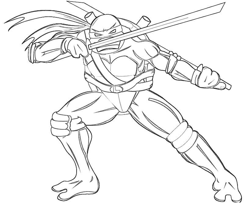 Ninja turtles leonardo coloring pages for Ninja turtle coloring book pages