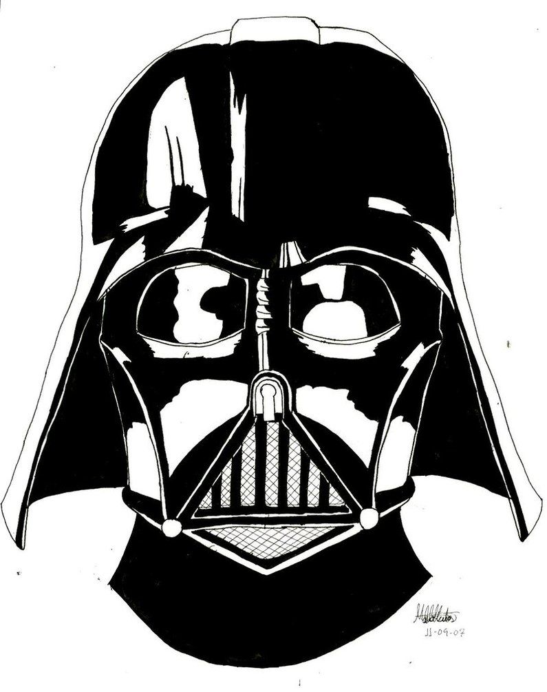 darth vader helmet coloring page coloring home. Black Bedroom Furniture Sets. Home Design Ideas