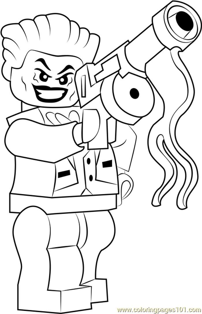 Lego The Joker Coloring Page from Lego Coloring Pages ...