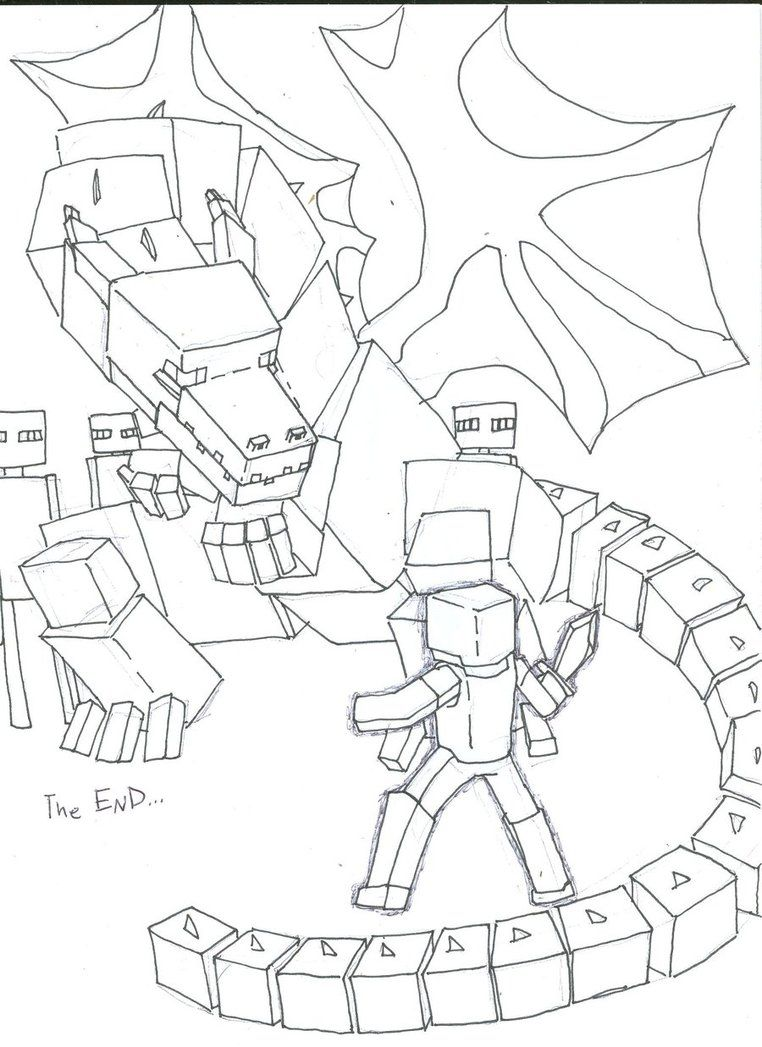 ender dragon coloring pages - Google Search | Dragon coloring page ...