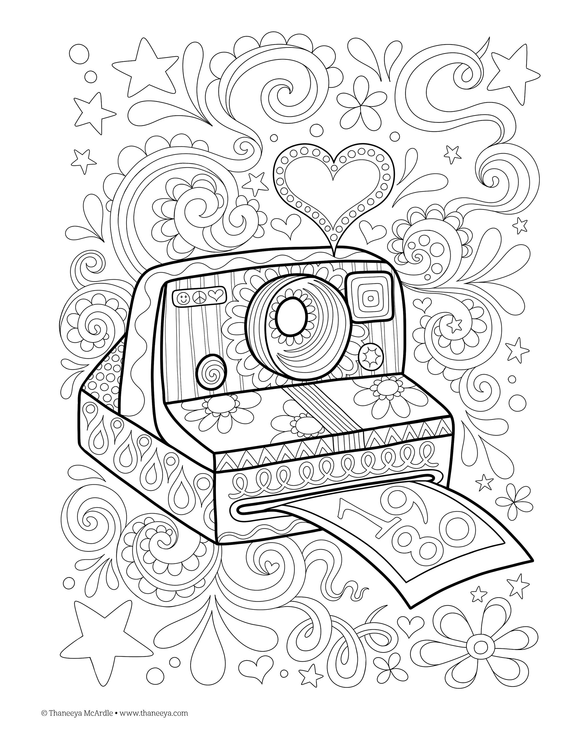 Coloring Pages Hipster Coloring Book Design Originals Digital Coloring Home