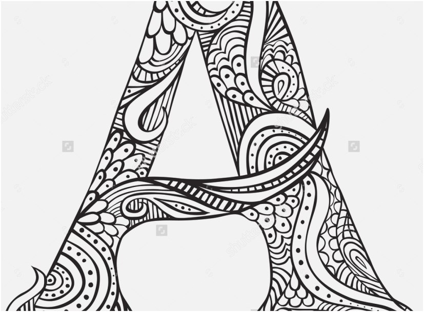 38 Stock Letter Coloring Pages for Adults Best YonjaMedia.com