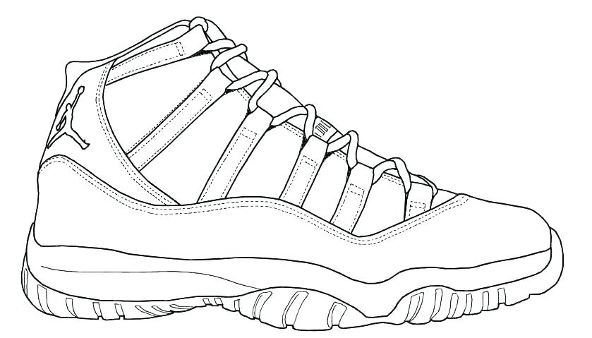 Jordan 11 Coloring Pages - Coloring Home