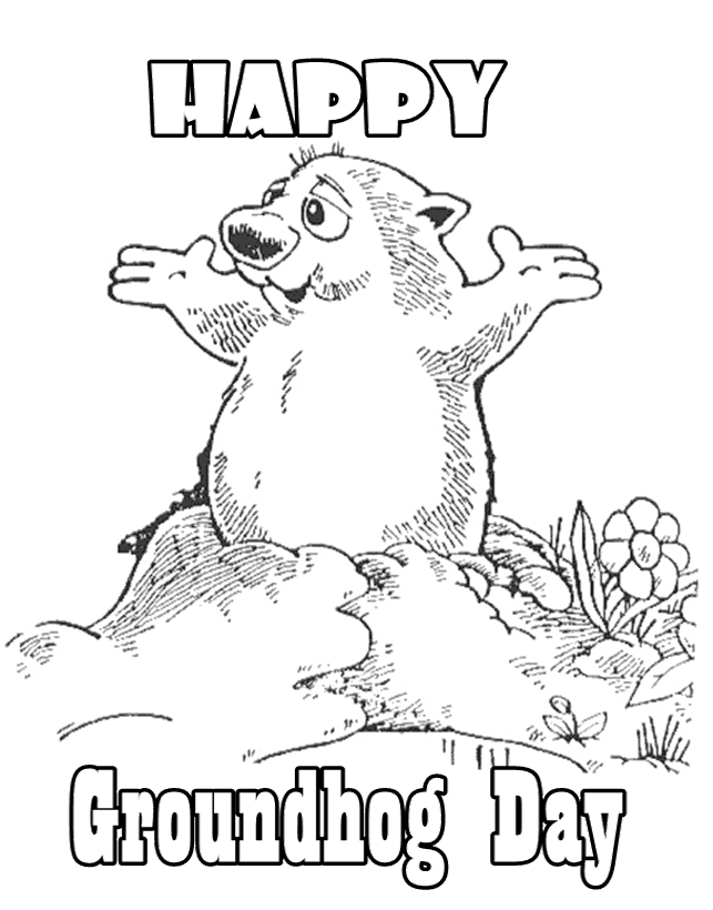 groundhog day coloring pages activities coloring pages ideas - Groundhog Coloring Page Printable