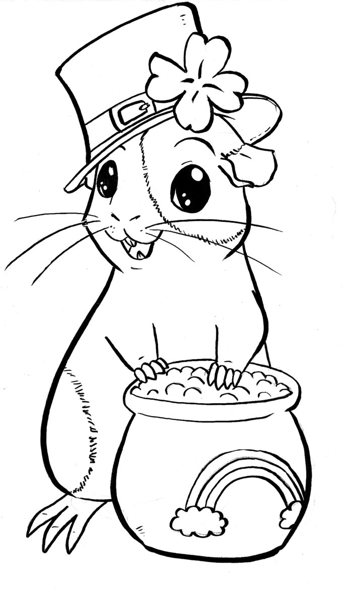 Free coloring pages guinea pigs - Guinea Pig Coloring Pages To Download And Print For Free