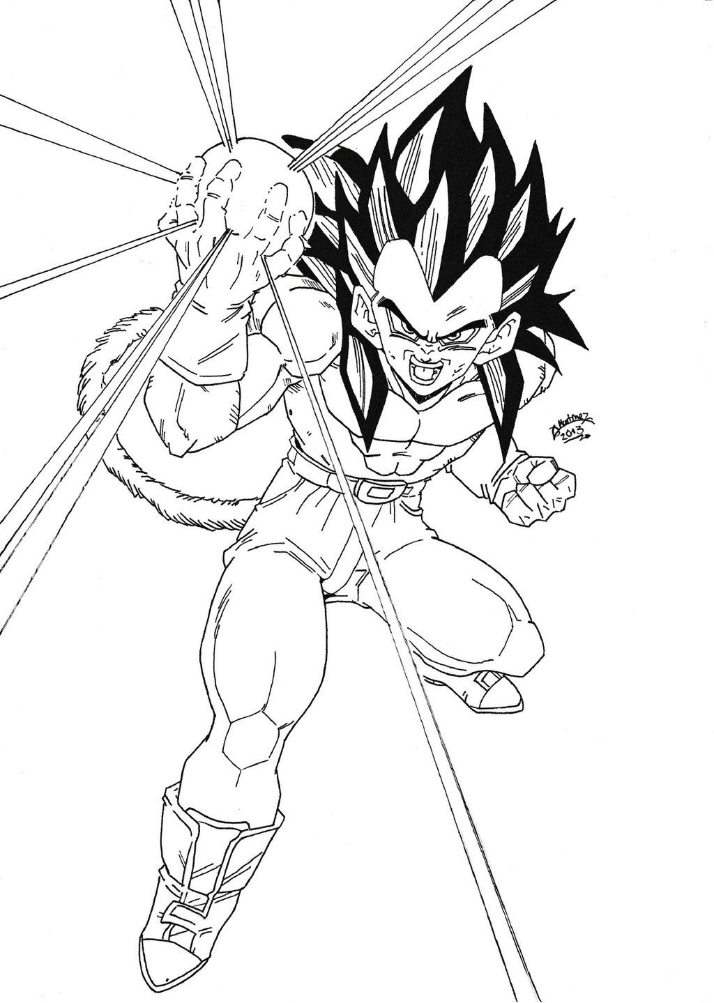 Dragon Ball Z Vegeta Coloring Pages - Coloring Home