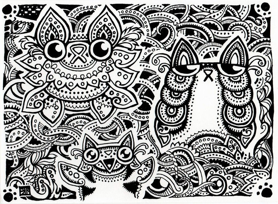 fun trippy coloring pages - photo#14