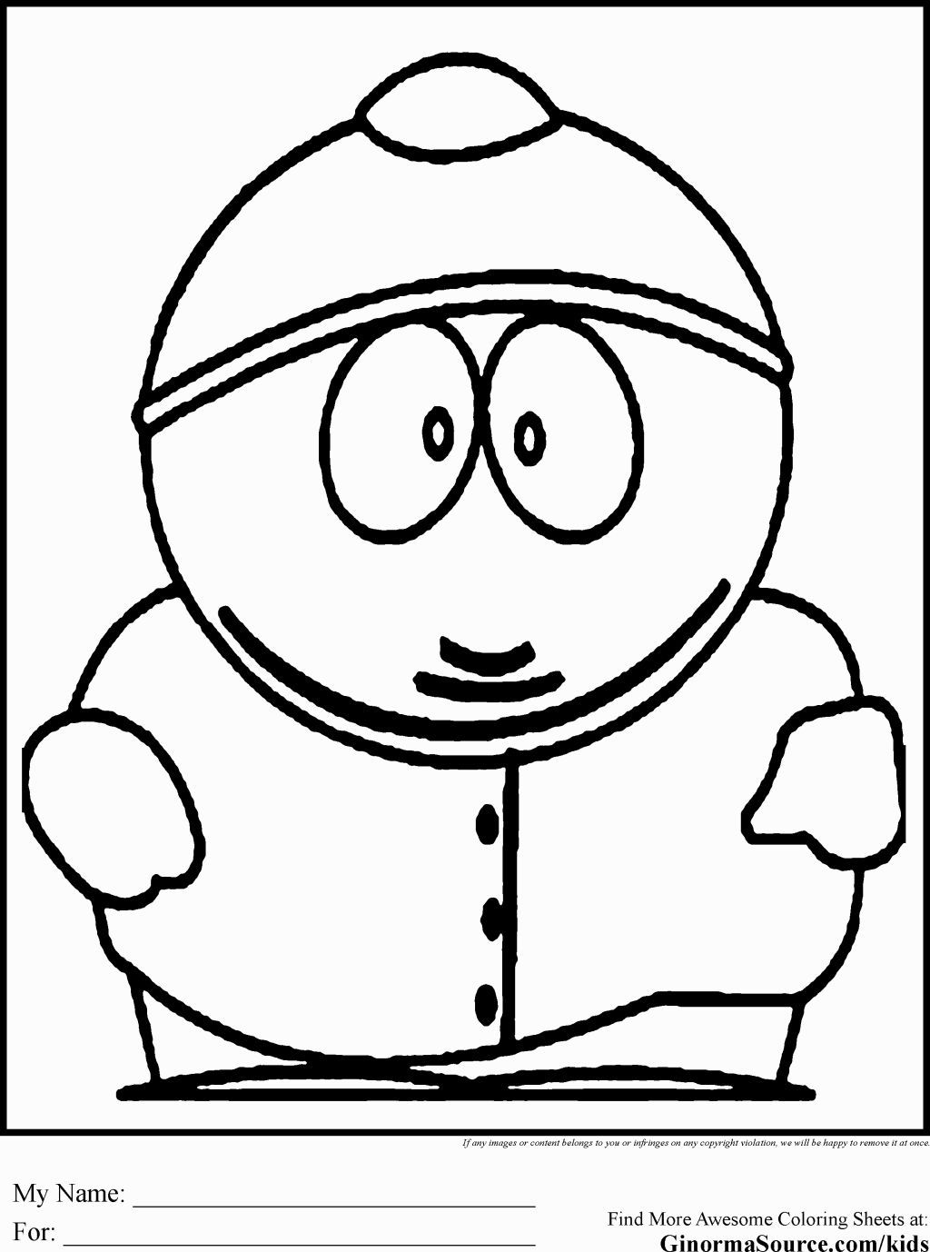 Printable south park coloring pages coloring home for Park coloring pages