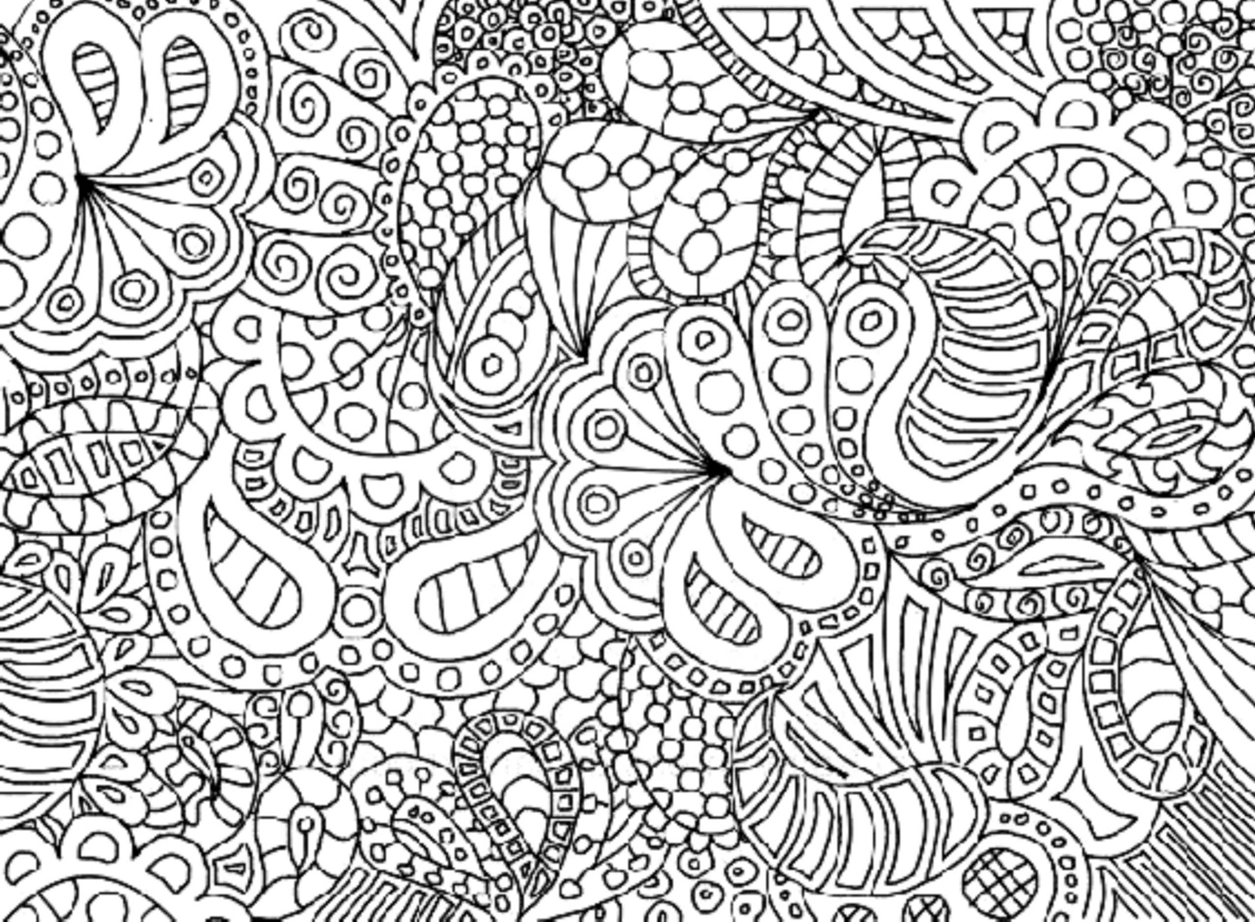 Complex Flower Coloring Pages