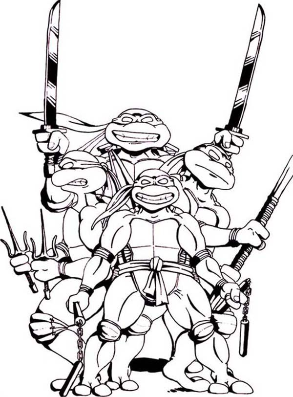 ninja turtles coloring pages characters - photo#39