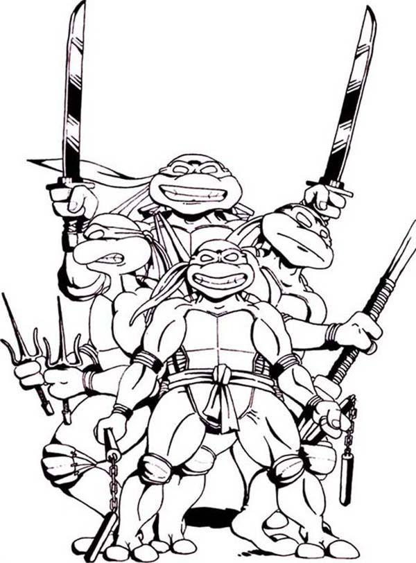 nija turtles coloring pages - photo#27
