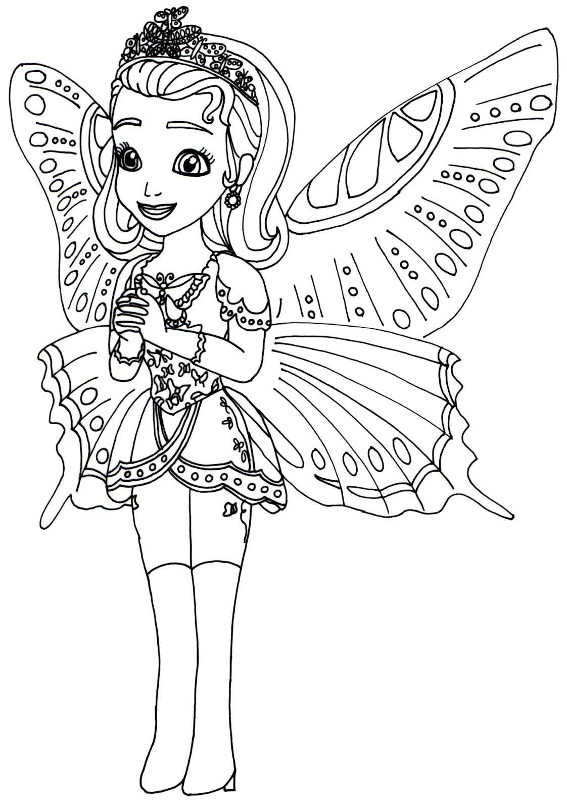 Princess hildegard coloring pages - Sofia The First Coloring Pages Princess Butterfly Sofia The First