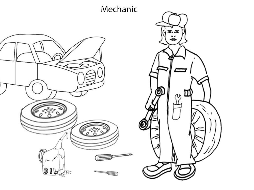 Occupation Coloring Pages - Coloring Home