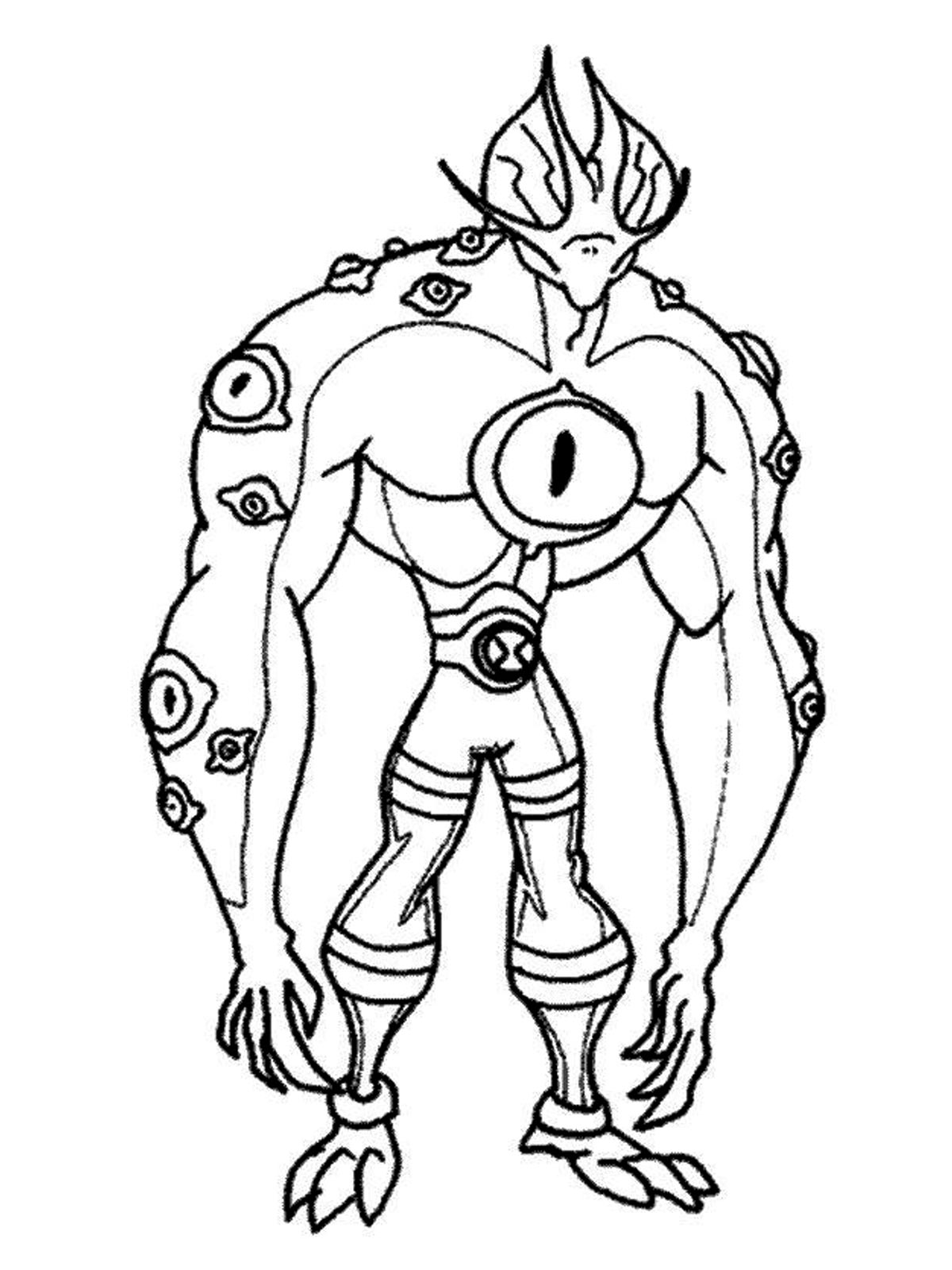 Ben 10 Printable Coloring Book