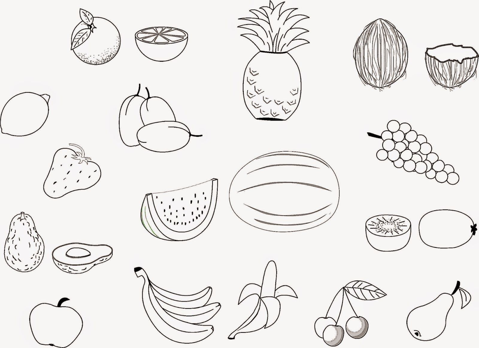 fruit coloring pages free - photo#14