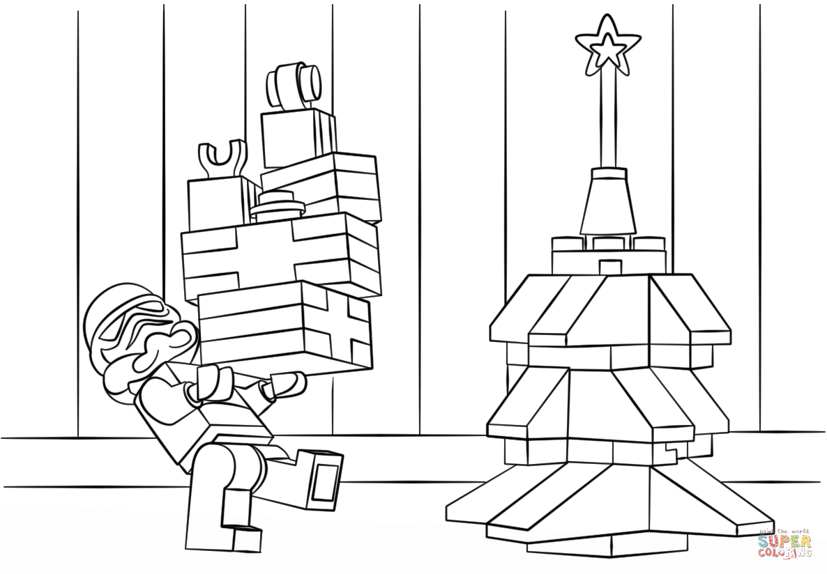 Lego Star Wars Clone Christmas Coloring Page Free Printable