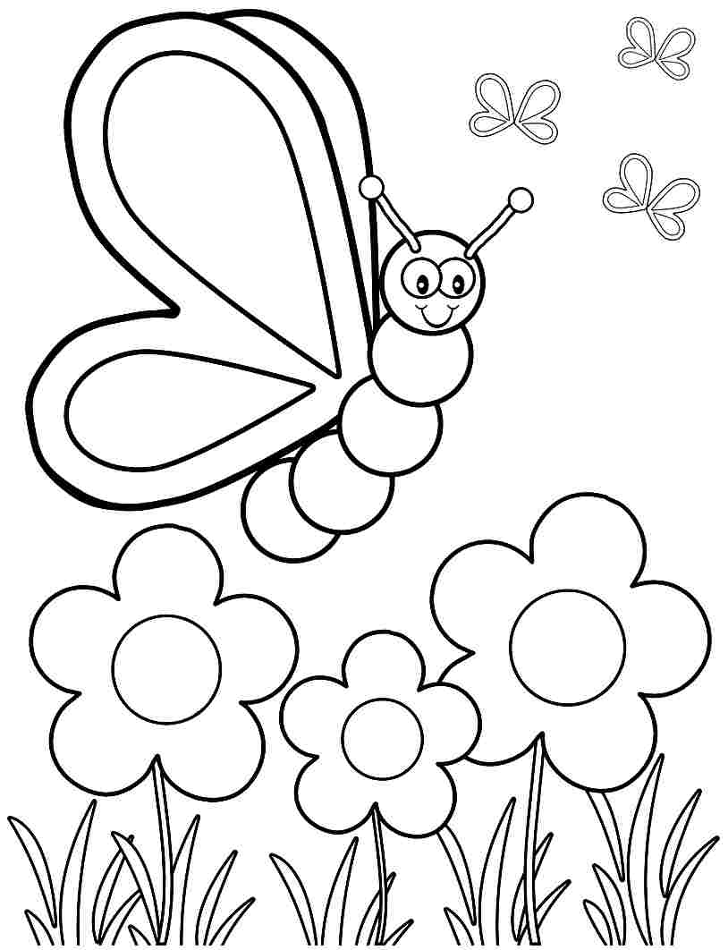 spring coloring pages for kids and for adults