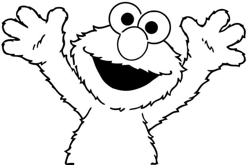 sesame street face coloring pages - coloring home - Sesame Street Coloring Pages Elmo