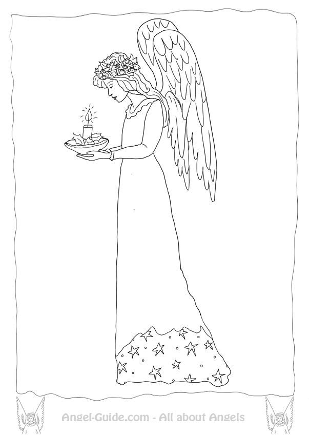 printable detailed angel coloring pages - photo#40