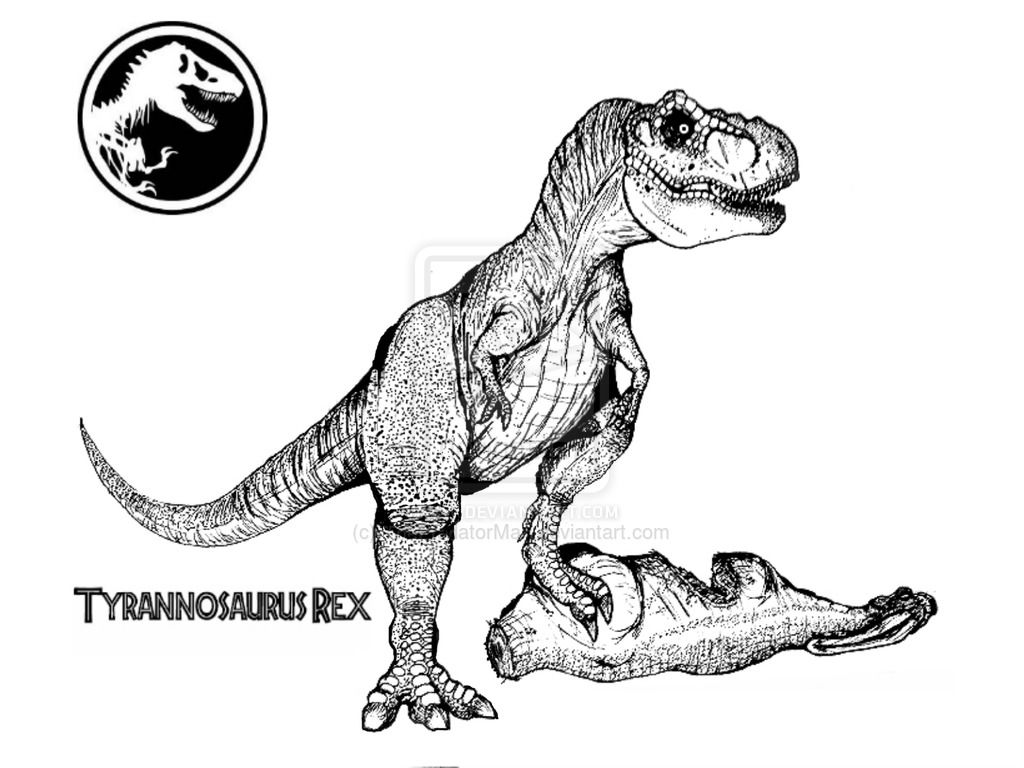 10 Pics of Jurassic World T-Rex Coloring Pages - World Jurassic ...