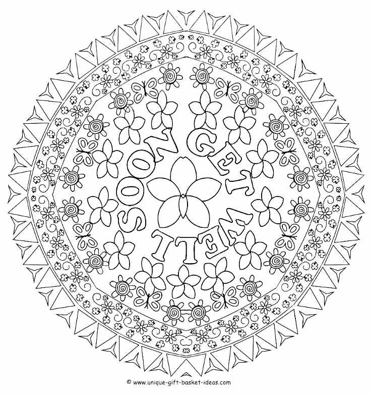 Get Well Soon Coloring Page Coloring Home