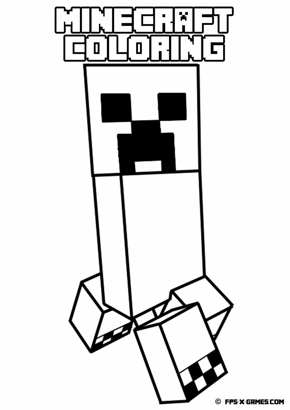 Minecraft Printables Coloring Pages