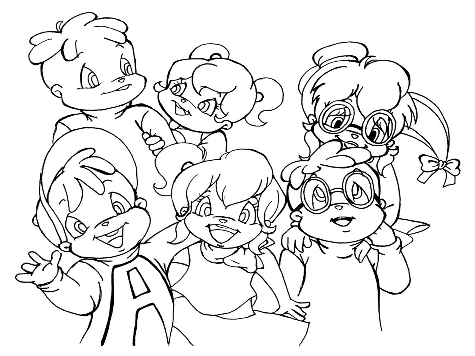 Alvin And The Chipmunks Chipwrecked Coloring Pages ...