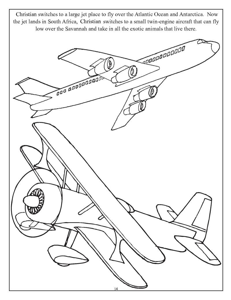 Coloring Pages Airplanes And Helicopters : Planes trains and automobiles coloring pages az