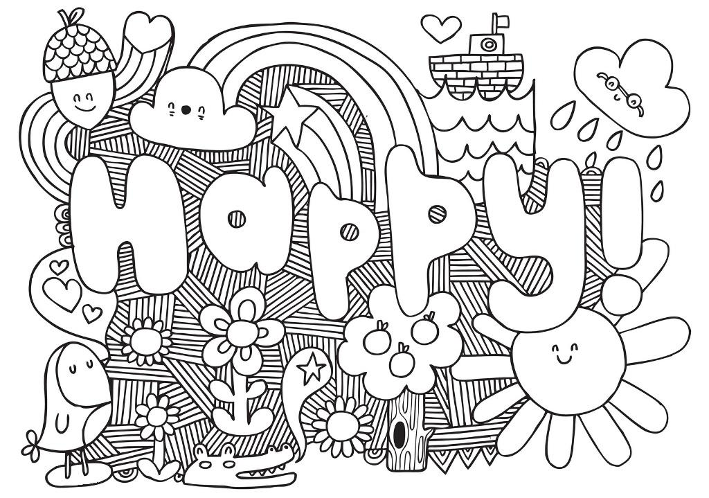 Geometric Animal Coloring Pages Kids - Coloring Home