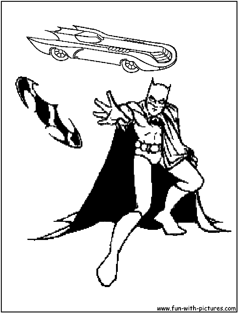 Batmobile Coloring Page