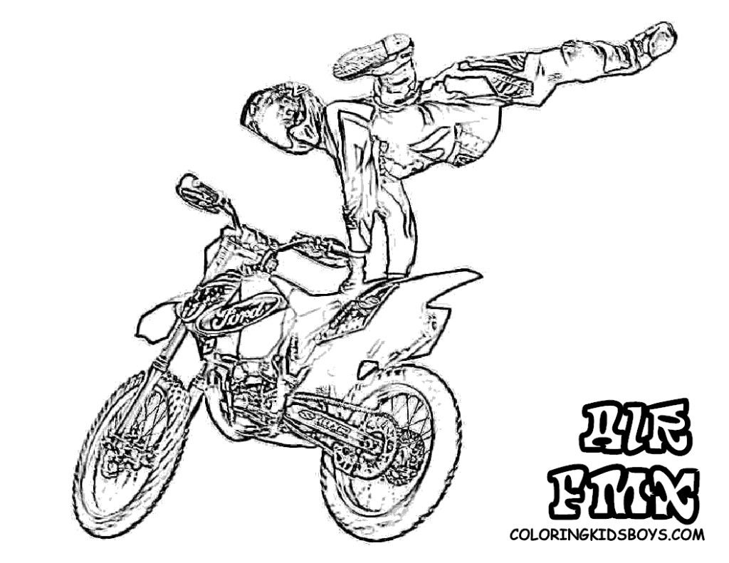 Motorcycle Coloring Pages Pdf : Pics of wheeling dirt bikes coloring pages bike