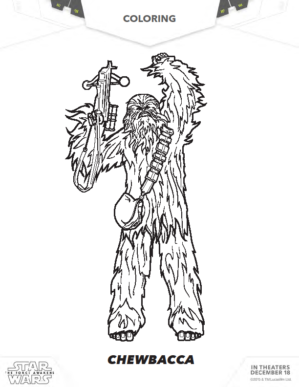 lego chewbacca coloring pages - photo#24
