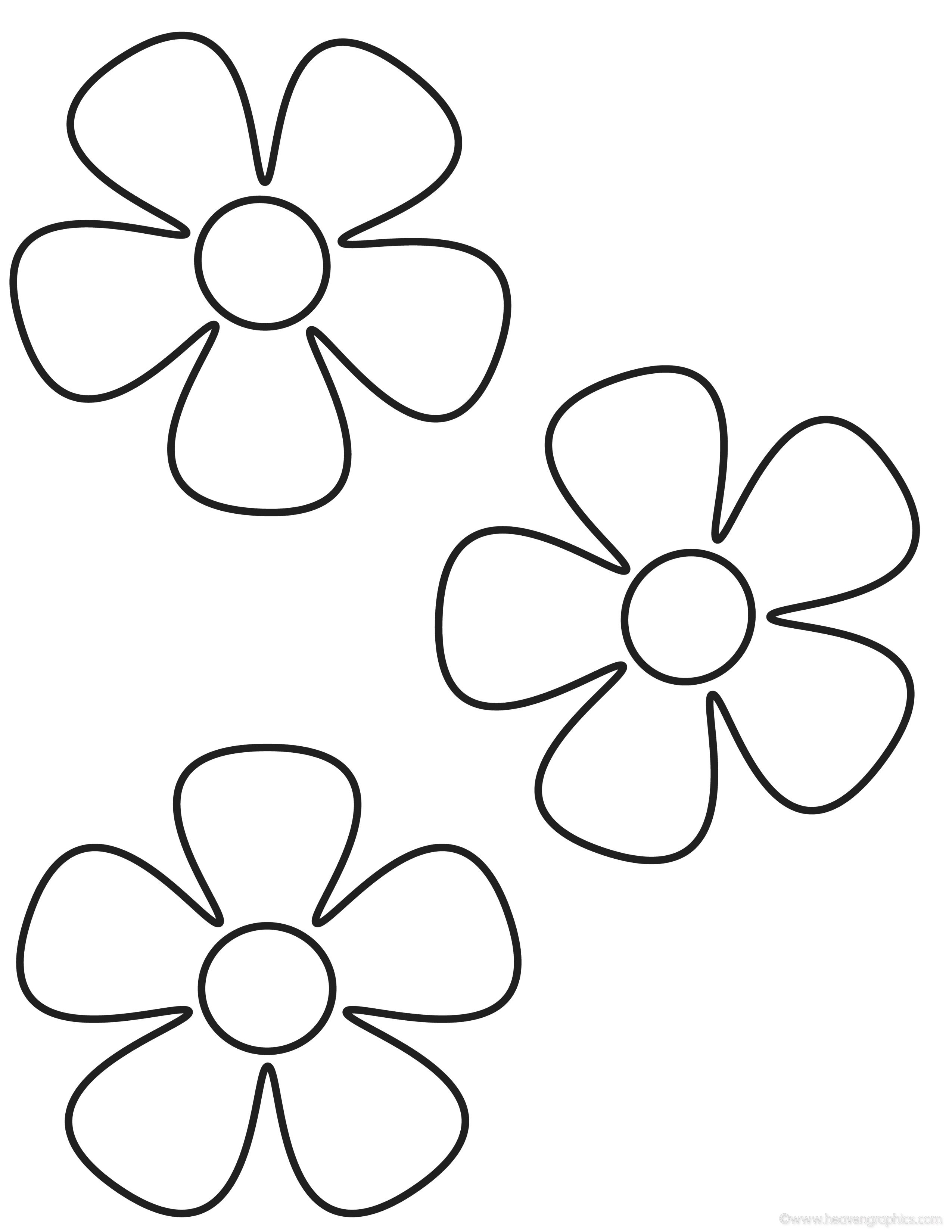 Simple Flower Coloring Page - Coloring Pages for Kids and for Adults