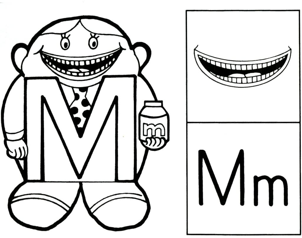 letter people free coloring pages - photo#5