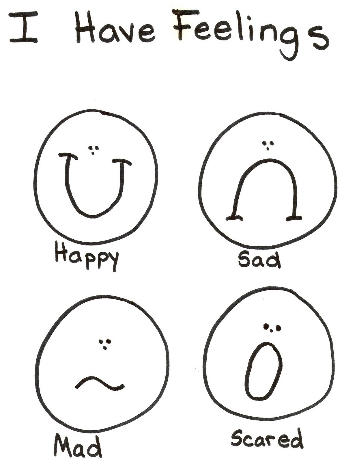 emotions coloring pages for preschoolers coloring pages feelings coloring home