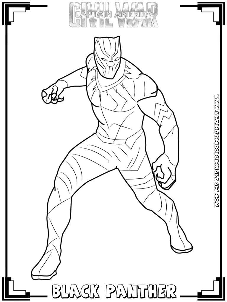 free black panther coloring pages - photo#3