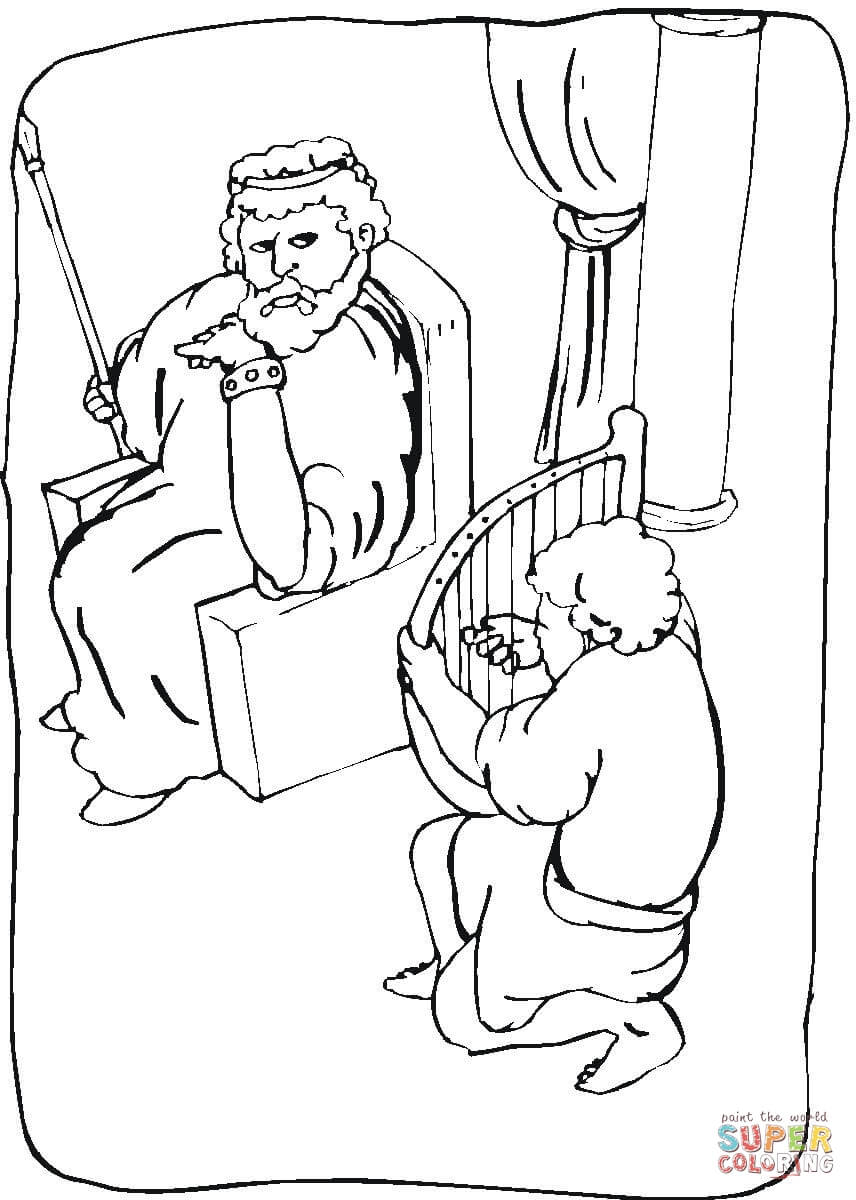 Childrens coloring sheet of saul and ananias - King Saul Coloring Page Free Printable Coloring Pages