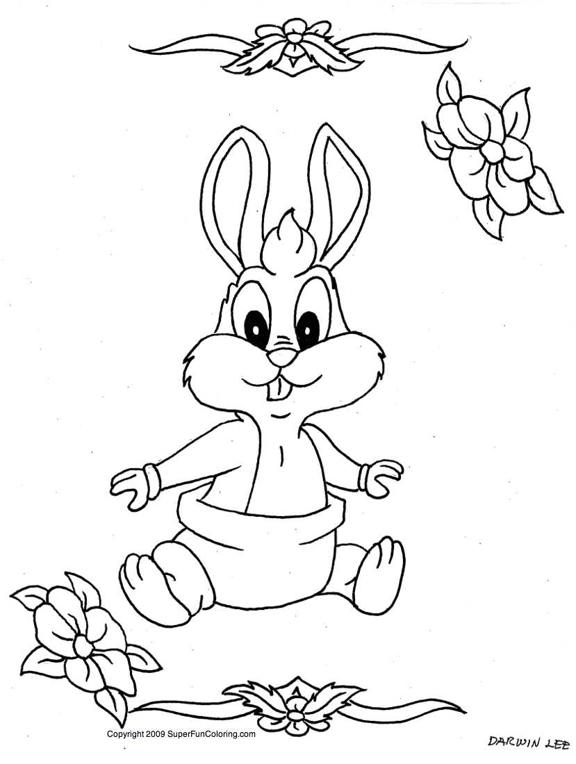 Cartoon Baby Animals Coloring Pages