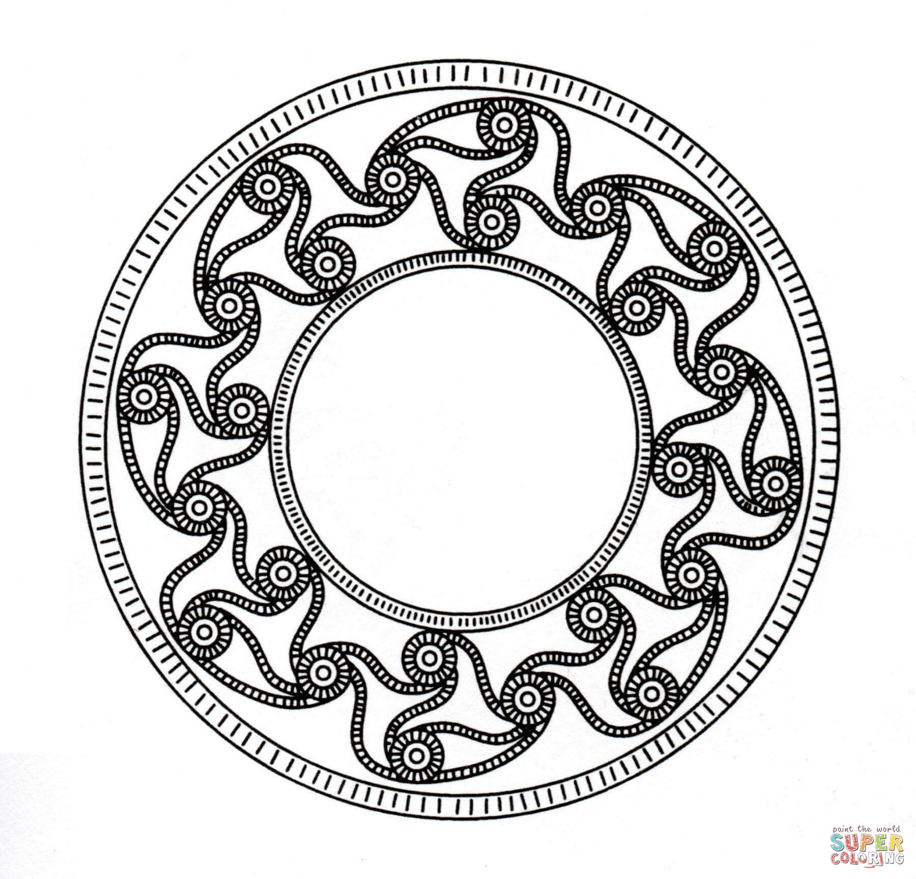mandala coloring pages for adults printable free celtic coloring