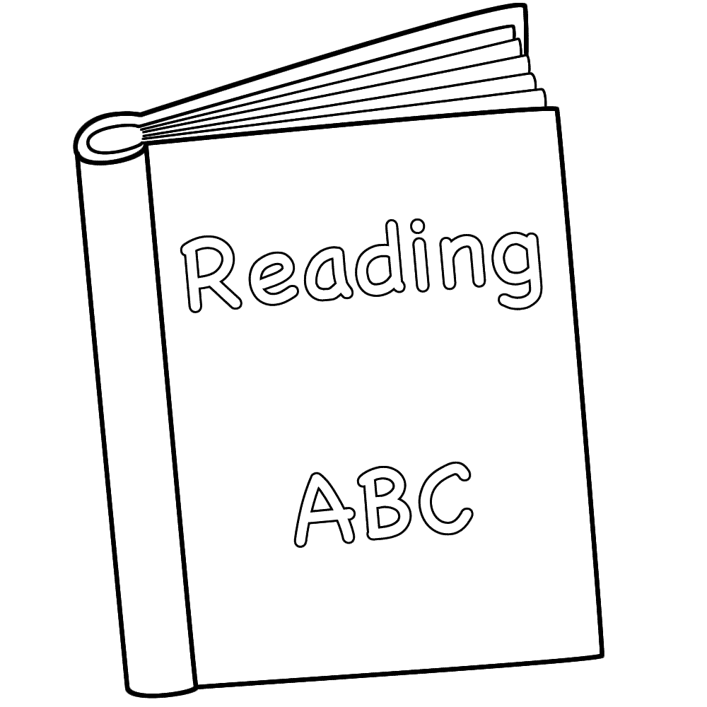 Reading Book Coloring Page   Coloring Home