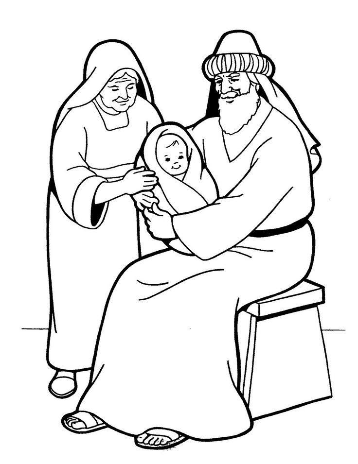 elizabeth bible coloring pages - photo#2