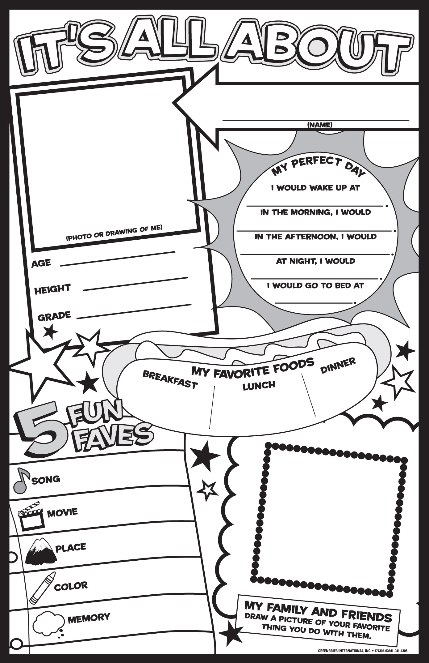 All About Me Coloring Pages Coloring