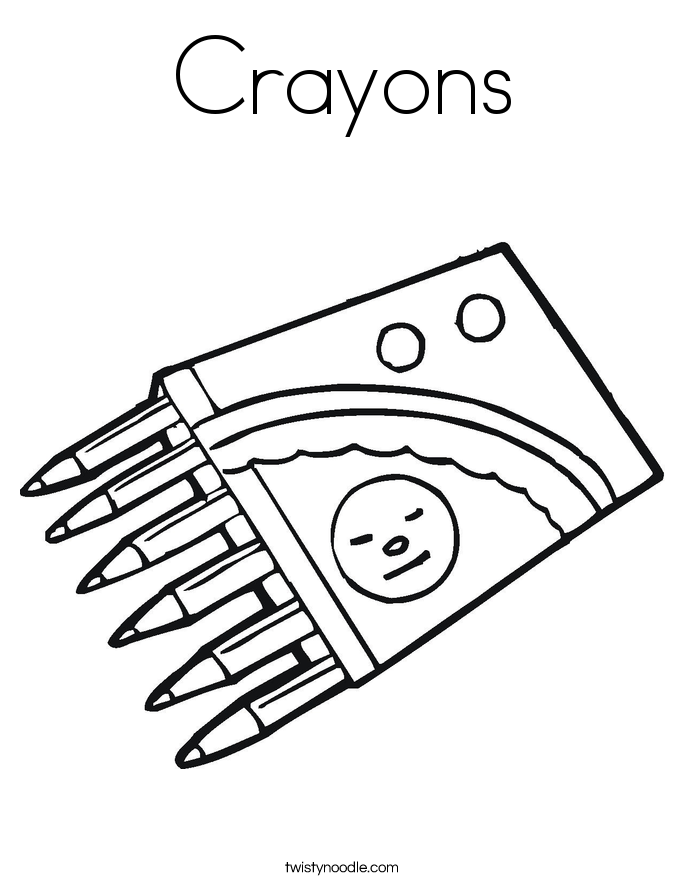 printable crayons coloring pages - photo#12